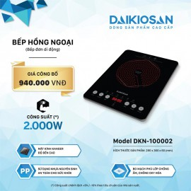 Bếp Hồng Ngoại Daikiosan DKN-100002 - 28cm