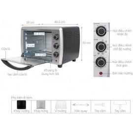 Lò Nướng Electrolux EOT30MXC - 30L 1800W