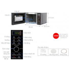 Lò Vi Sóng Panasonic PALM-NN-GD37HBYUE - 1000W 23L - Có Nướng