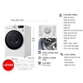 Máy Giặt LG FV1408G4W - 8.5Kg