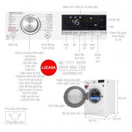 Máy Giặt LG FV1409S4W - 9Kg