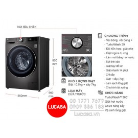 Máy Giặt LG FV1450H2B - 10.5Kg