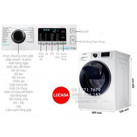Máy Giặt Samsung WW85K54E0UW/SV - 8.5Kg