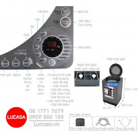 Máy Giặt Sharp ES-W110HV-S - 11Kg