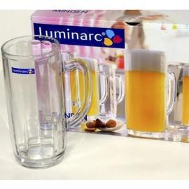 Bộ 6 Ly Bia Thủy Tinh Luminarc Bock Mindel G2617 - 380ml