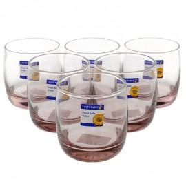 Bộ 6 Ly Thủy Tinh Thấp Luminarc Vigne Ice Pink L0525 - 310ml