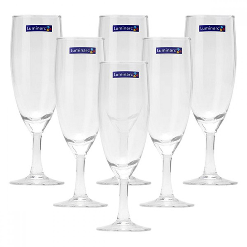 Bộ 6 Ly Rượu Champagne Thủy Tinh Luminarc Savoie 11911 - 170ml