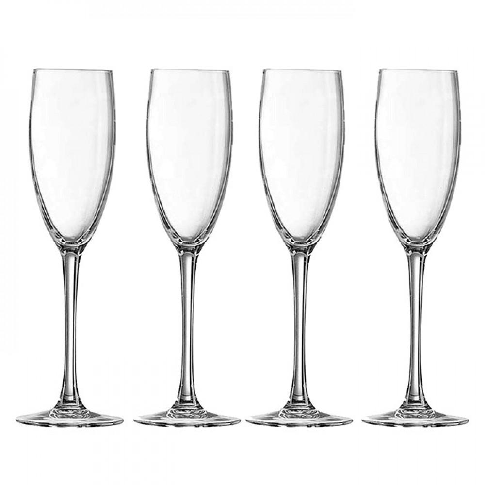 Bộ 4 Ly Rượu Champagne Thủy Tinh Luminarc World Wine G8981 - 160ml