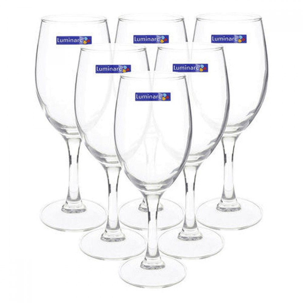 Bộ 6 Ly Rượu Vang Thủy Tinh Luminarc Raindrop H5700 - 190ml