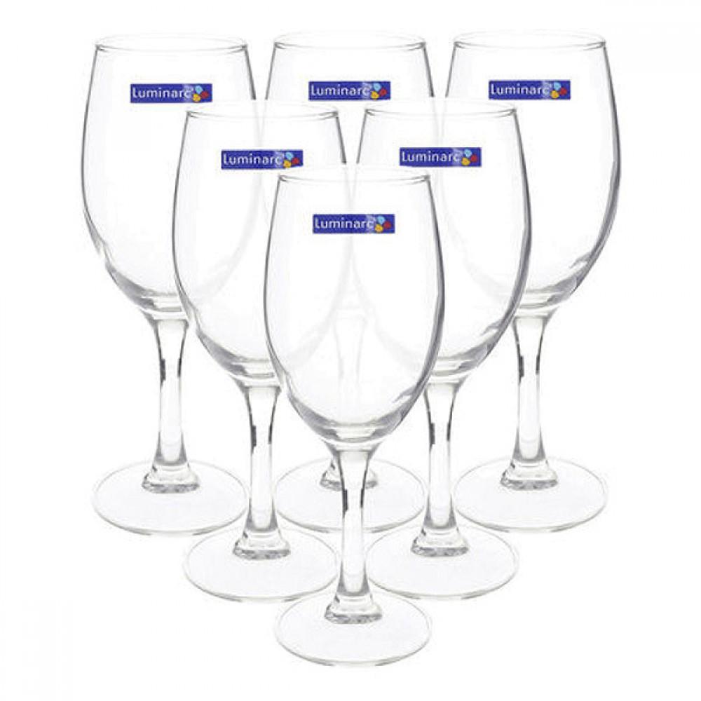 Bộ 6 Ly Rượu Vang Thủy Tinh Luminarc Raindrop H5701 - 250ml