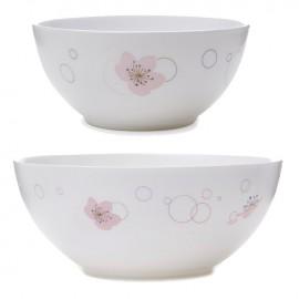 Bộ 12 món đồ dùng bàn ăn thủy tinh Luminarc Ikumi - Trắng hoa văn