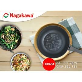 Chảo Kim Cương Đáy Từ Nagakawa NAG2451 - 24cm Đáy 5 Lớp