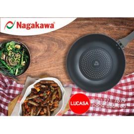 Chảo Kim Cương Đáy Từ Nagakawa NAG2651 - 26cm Đáy 5 Lớp