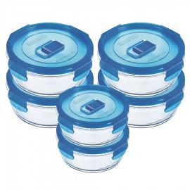 Bộ 6 Hộp Thủy Tinh Tròn Luminarc Pure G1324 - 670ml