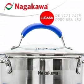 Bộ Nồi Inox Nagakawa NAG1302 - 3 Nồi Đáy 5 Lớp