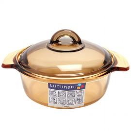 Bộ 2 nồi thủy tinh Luminarc Vitro Blooming Amberline - 1L-3L