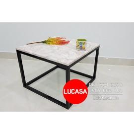 Bàn Sofa Chân Sắt Vuông BSOFA-L114 60cm