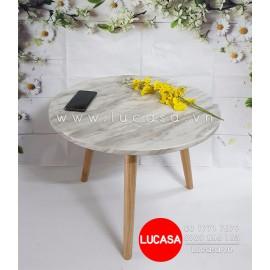 Bàn Sofa Tròn Mặt Giả Đá BSOFA-L115