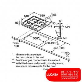 Bếp Gas Bosch HMH.PCC6A5B90 - 60cm Tây Ban Nha