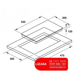 Bếp Gas Hafele HC-G301B 533.02.853 - 30cm 4500W