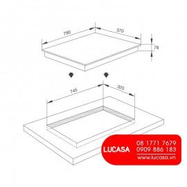 Bếp Gas Âm Malloca AS 9503B - 80cm