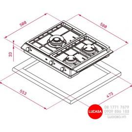 Bếp Gas Teka EX 60.1 3G AI AL DR CI -  58cm