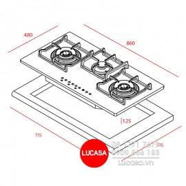 Bếp Gas Teka GK LUX 86.1 3G AI AL 2TR  - 86cm - Tây Ban Nha