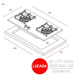 Bếp Gas Teka GVI 75 2G AI AL 2TR - 75cm Tây Ban Nha