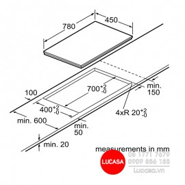Bếp Từ Bosch HMH.PPI82560MS - 80cm 3600W
