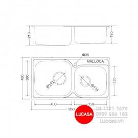 Chậu Rửa Chén Malloca MS-1011-NEW
