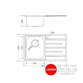 Chậu Rửa Chén Malloca MS-1017-NEW