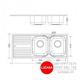 Chậu Rửa Chén Malloca MS-1025L-NEW