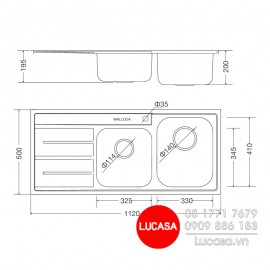 Chậu Rửa Chén Malloca MS-1027L-NEW