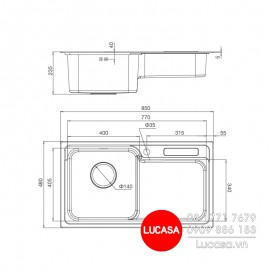 Chậu Rửa Chén Malloca MS-1028D