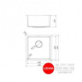 Chậu Rửa Chén Malloca MS-6044