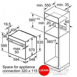 Lò Nướng Bosch HMH.HBG5575S0A - 71L 3400W Đức
