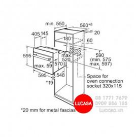 Lò Nướng Bosch HMH.HBN211E2M - 66L 2800W Thổ Nhĩ Kỳ
