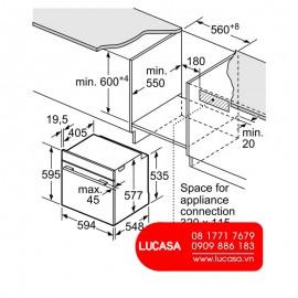 Lò Nướng Bosch HMH.HNG6764S1A - 67L 3650W Đức