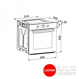 Lò nướng Binova BI-66-ISO-SS