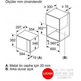 Lò Vi Sóng Bosch BFL524MS0 - 20L