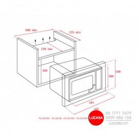 Lò Vi Sóng Teka ML 820 BIS - 40cm 20L Tây Ban Nha