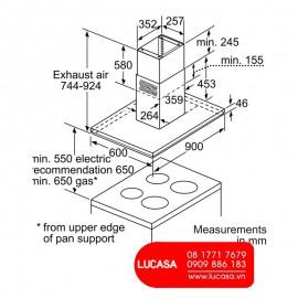Máy Hút Mùi Bosch HMH.DIB091E51 - 90cm Đức