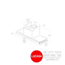 Máy Hút Mùi Elica BOX IN PLUS IXGL/A/60 (No Filter) - 60cm Italy