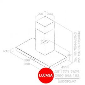Máy Hút Mùi Elica JOY BLIX/A/90 -  90cm Ba Lan