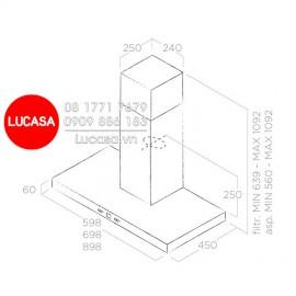 Máy Hút Mùi Elica CRUISE IX/A/90 (No Filter) - 90cm Ba Lan
