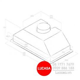 Máy Hút Mùi Elica ERA C IX/A/52 (No Filter) - 52cm Italy