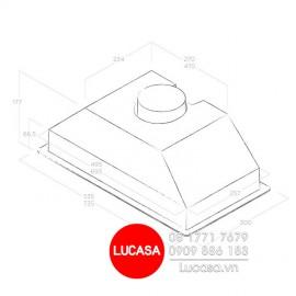 Máy Hút Mùi Elica ERA S IX/A/72 (No Filter) - 72cm Italy
