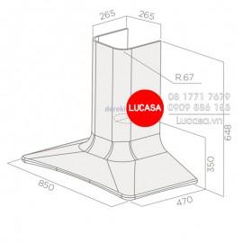 Máy Hút Mùi Elica SWEET CAST IRON/F/85 (Filter Included) - 85cm Italy