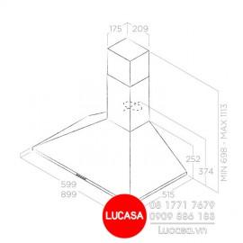 Máy Hút Mùi Elica TAMAYA PB IX/A/60 (No Filter) - 60cm Ba Lan