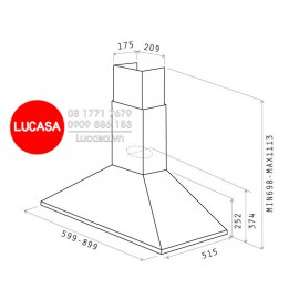 Máy Hút Mùi Elica TAMAYA RAIL ANBR/A/90 (No Filter) - 90cm Ba Lan